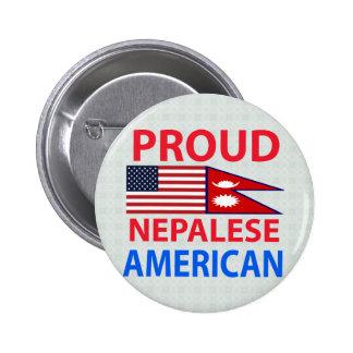 Americano nepalés orgulloso pins