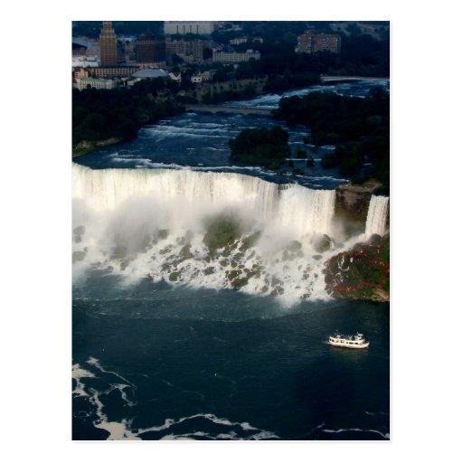 Americano Niagara Falls: Visión aérea desde Skylon Tarjetas Postales