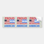 Americano nicaragüense orgulloso etiqueta de parachoque