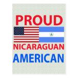Americano nicaragüense orgulloso postal