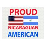 Americano nicaragüense orgulloso tarjeta postal