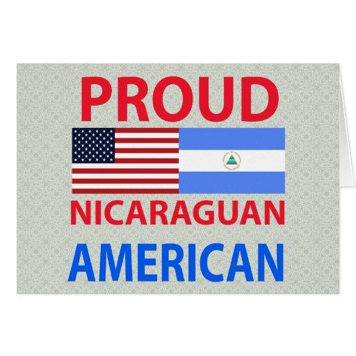 Americano nicaragüense orgulloso tarjetón