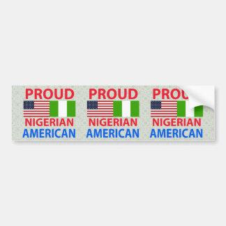 Americano nigeriano orgulloso pegatina de parachoque