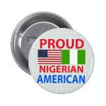 Americano nigeriano orgulloso pin redondo 5 cm