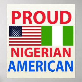 Americano nigeriano orgulloso póster