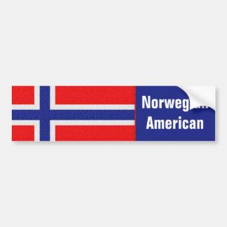 """""""Americano noruego """" Pegatina De Parachoque"""