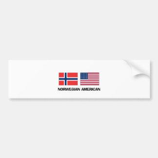 Americano noruego etiqueta de parachoque