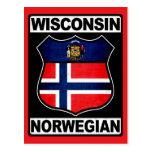 Americano noruego de Wisconsin Postal
