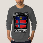 Americano noruego de Wisconsin Remera