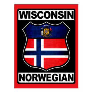 Americano noruego de Wisconsin Tarjetas Postales