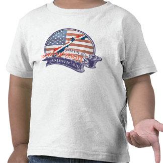 Americano noruego orgulloso camisetas