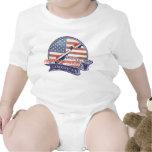 Americano noruego orgulloso trajes de bebé