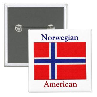 Americano noruego pin cuadrado