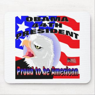 Americano orgulloso Barack Obama Alfombrilla De Ratón