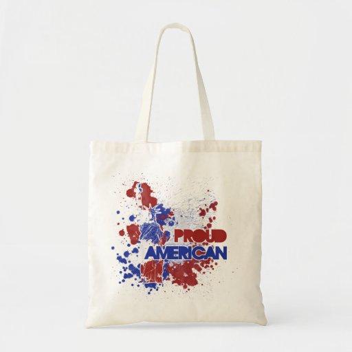 Americano orgulloso bolsa tela barata