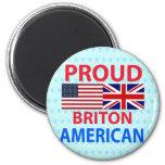 Americano orgulloso británico imán de nevera