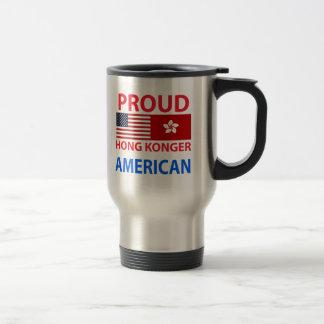 Americano orgulloso de Hong Konger Tazas