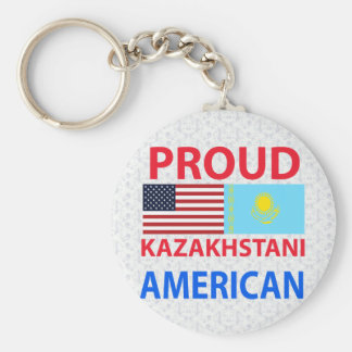 Americano orgulloso de Kazakhstani Llaveros Personalizados
