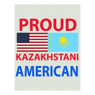Americano orgulloso de Kazakhstani Tarjeta Postal