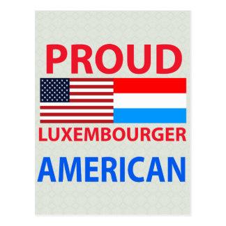 Americano orgulloso de luxemburgués postal