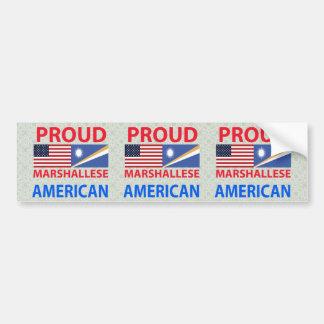Americano orgulloso de Marshallese Pegatina De Parachoque
