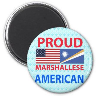 Americano orgulloso de Marshallese Imán Redondo 5 Cm