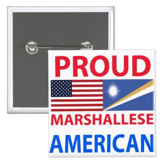 Americano orgulloso de Marshallese Pin Cuadrado