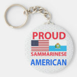 Americano orgulloso de Sammarinese Llavero Personalizado