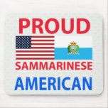Americano orgulloso de Sammarinese Tapetes De Ratones