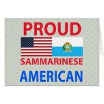 Americano orgulloso de Sammarinese Tarjetas