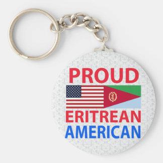 Americano orgulloso del Eritrean Llavero Redondo Tipo Pin
