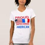Americano orgulloso del francés camiseta