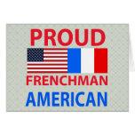 Americano orgulloso del francés tarjeta