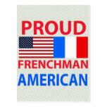 Americano orgulloso del francés tarjeta postal