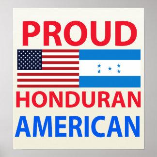 Americano orgulloso del Honduran Poster