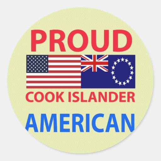 Americano orgulloso del isleño del cocinero pegatina redonda