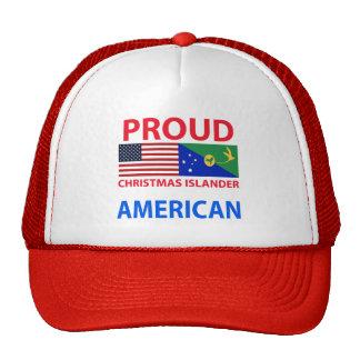 Americano orgulloso del isleño del navidad gorra