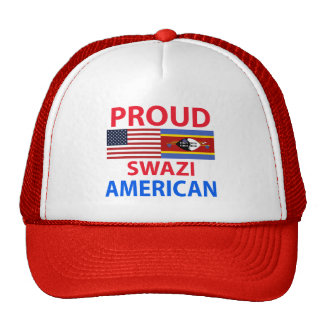 Americano orgulloso del Swazi Gorras De Camionero