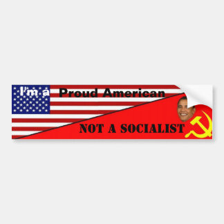 Americano orgulloso, no socialista etiqueta de parachoque