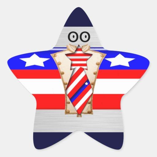 Americano orgulloso pegatina en forma de estrella