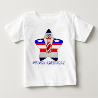Americano orgulloso playera para bebé
