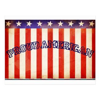 Americano orgulloso postal
