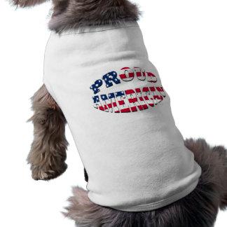 Americano orgulloso camisetas de mascota