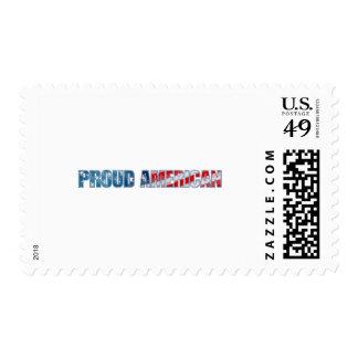 Americano orgulloso sellos