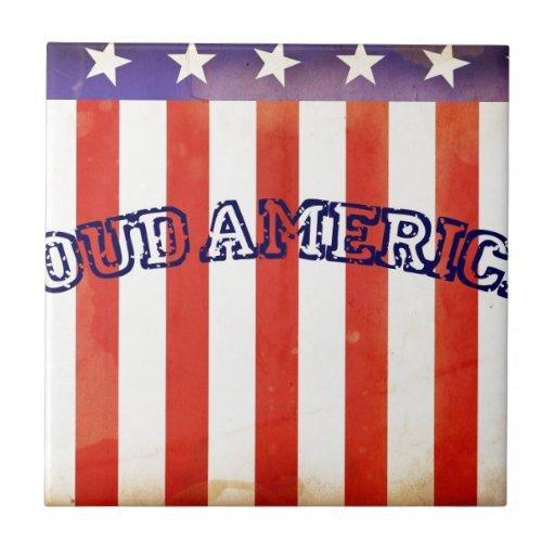 Americano orgulloso tejas  cerámicas