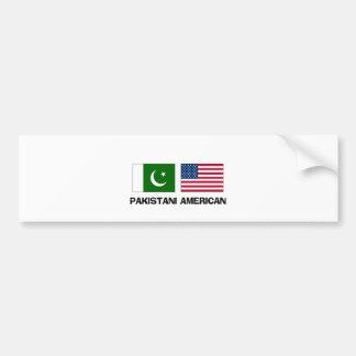 Americano paquistaní etiqueta de parachoque