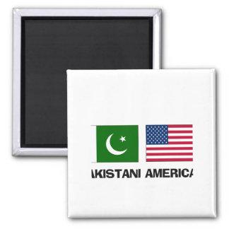 Americano paquistaní imán de nevera