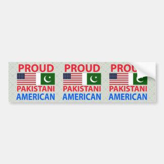 Americano paquistaní orgulloso etiqueta de parachoque