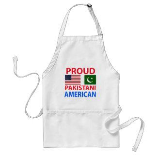 Americano paquistaní orgulloso delantal