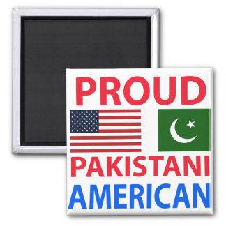 Americano paquistaní orgulloso iman de frigorífico